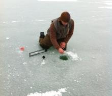 Ice Fishing on Grand Lake