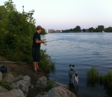 Thunder Bay River in Downtown Alpena