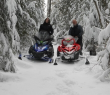 Snowmobiling at Rockport State Recreation Area