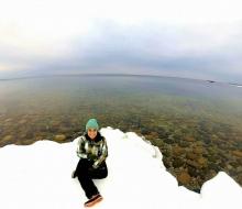Exploring the Lake Huron Winter Shoreline