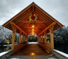 Covered Bridge at Island and Duck Park