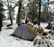Winter Camping at Negwegon