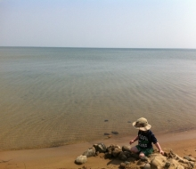 Sun, Sand and Water at Ossinkek Beach