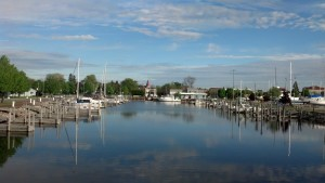 Picturesque City of Alpena Marina.