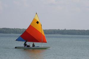 Dave and son sailing Anna Meinhardt
