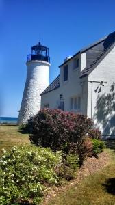 """""""The Haunted Light"""" Old Presque Isle Lighthouse; photo courtesy Angela Soltysiak."""