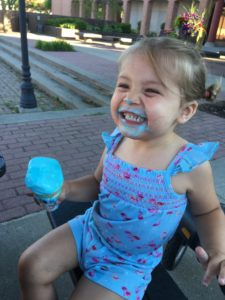 little girl enjoying an ice cream cone