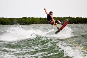 Paul Gerow with corey code water boarding
