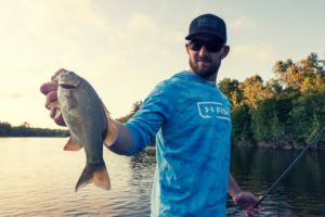 Bass fishing catch