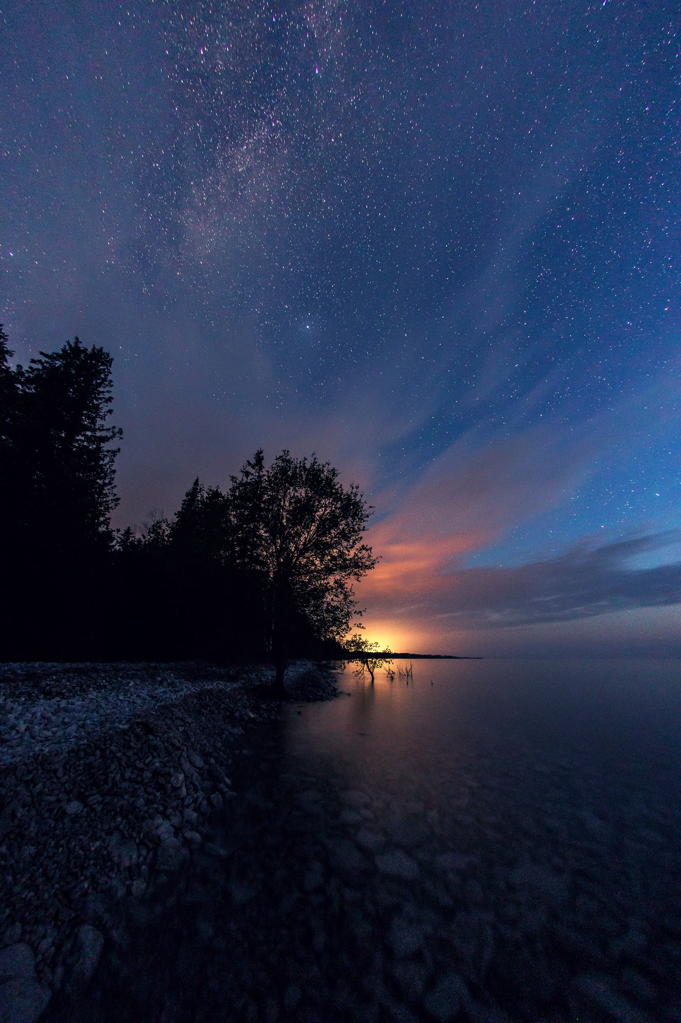 Dark sky photography above Lake Huron