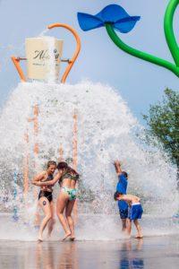 splash park bucket dump