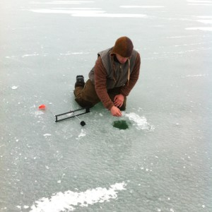 Ice Fishing in Alpena is a favorite winter sport.
