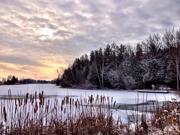 A calm winter morning at Island Park, by Amy Lijewski