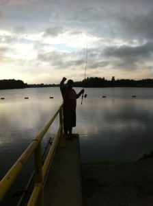 Fishing the 7 Mile Dam on a warm August evening
