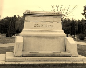 Michigan Governor William A. Comstock's grave marker in Alpena