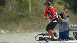 Professional angler Kevin VanDam competes on Long Lake for Major League Fishing TV series
