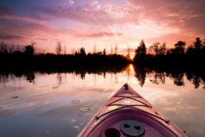 Sunrise kayak over wildlife sanctuary