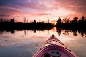 Sunrise kayak over wildlife sanctuary