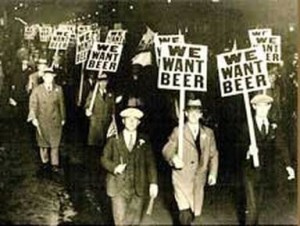 Prohibition protesters in Detroit in the early 1930's