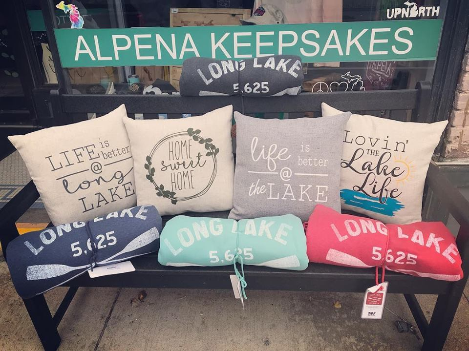 A variety of Alpena apparel at The Local Basket Case.