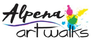 Pictured is Alpena Art Walks brand new logo by Dolmen Imaging and Design LLC