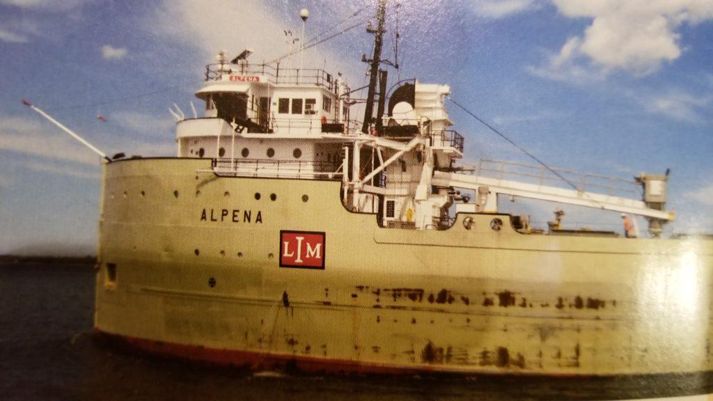 Alpena freighter. Photo courtesy: Gary Irving