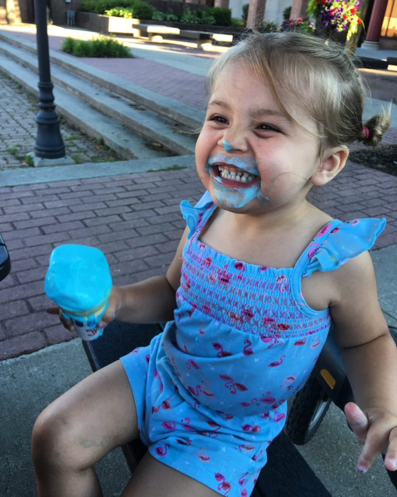 Enjoying some ice cream from Downtown Scoops. Photo by Michele Madison.