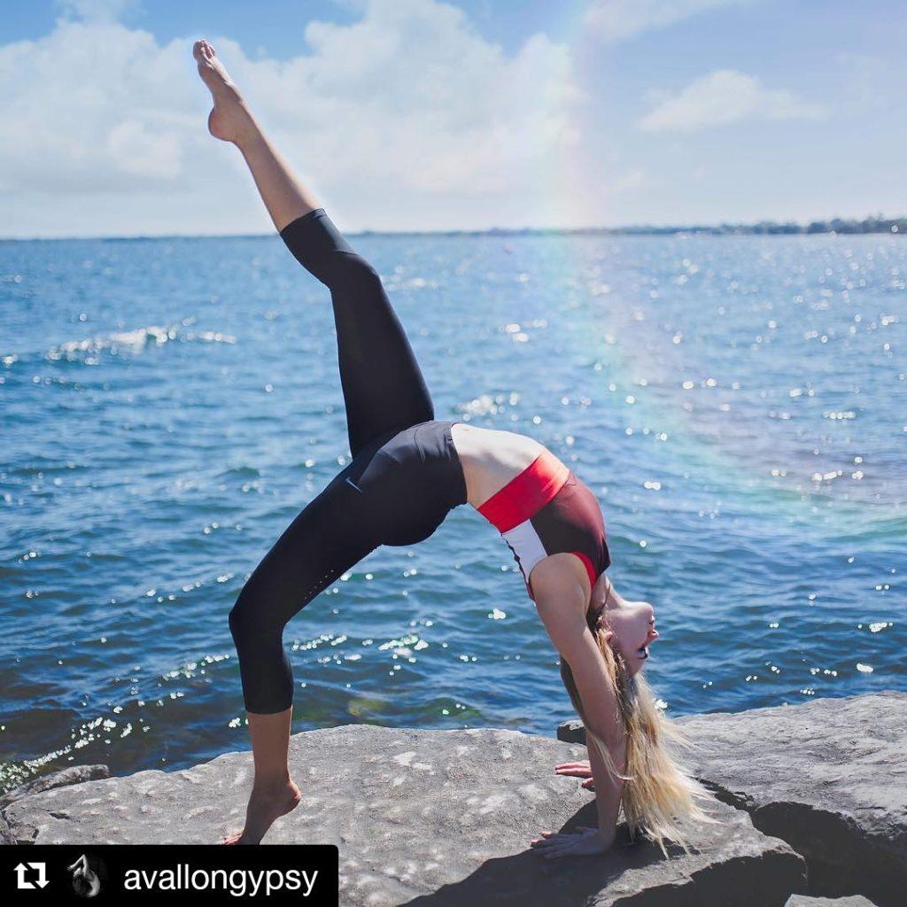 Yoga pose at Bay View Park. Photo courtesy: Abby Avallon