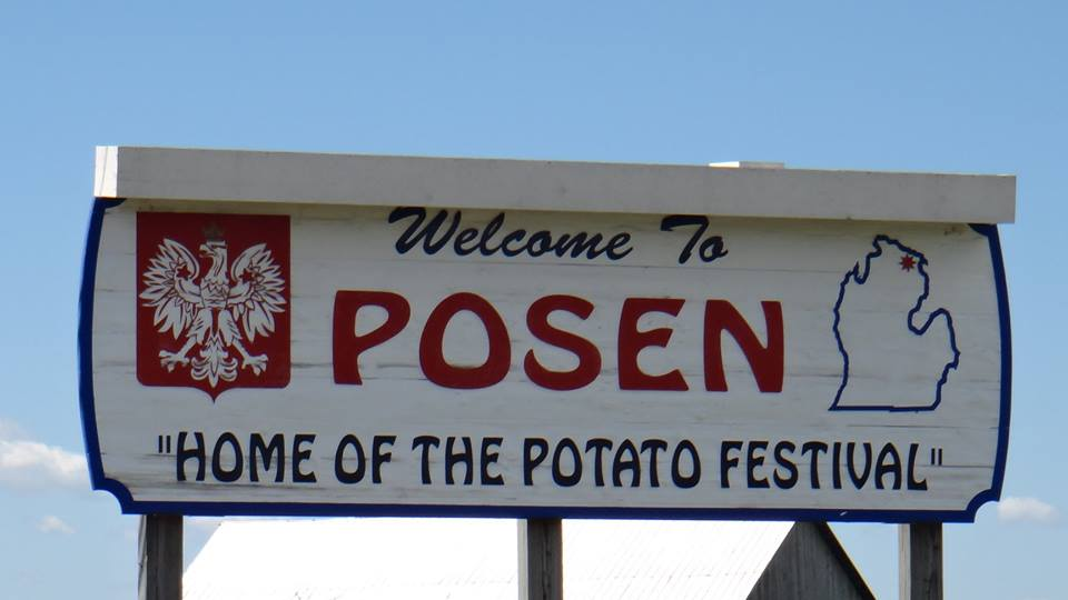 Posen Potato Festival sign