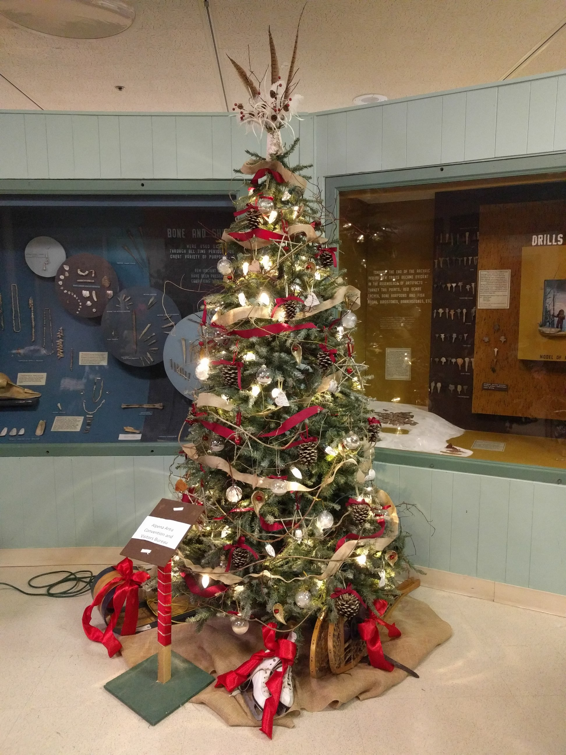 Christmas tree at the Besser Museum