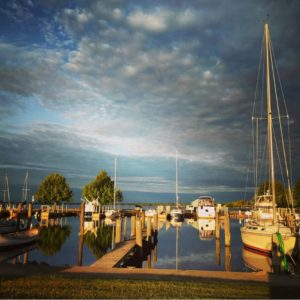 Alpena's small boat harbor
