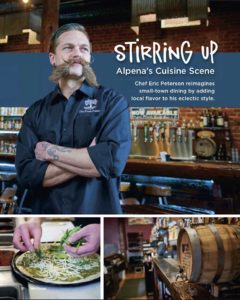 Chef Eric Peterson's feature in the national publication Next Course, April 2019, featuring The Fresh Palate.