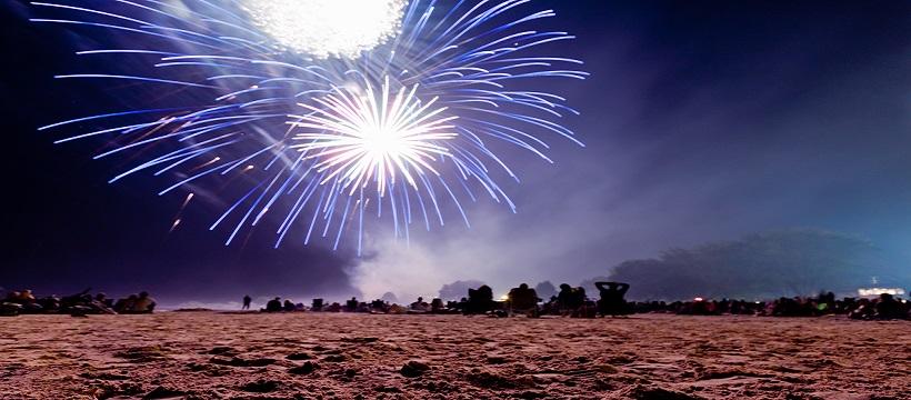 Fireworks at Mich-e-ke-wis Beach