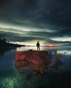 Rockport at night by Joe Gall