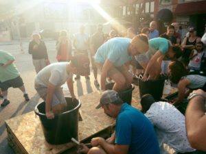 Fun was had by all at last years grape stomping competition!
