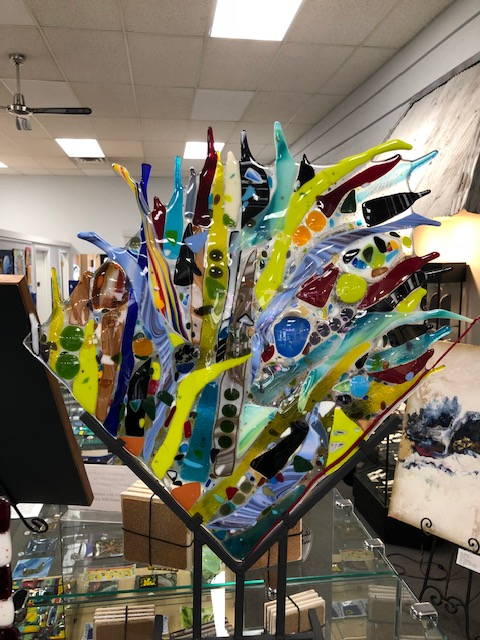 Glass artwork at Forty Five North Art Gallery
