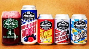Canned Austin Brothers beer