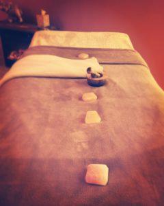 Massage bed at Alpena Salt Spa