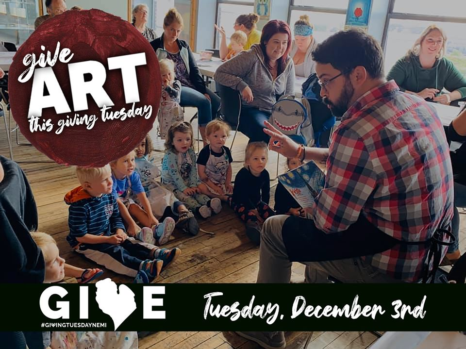 Art in the Loft giving Tuesday ad.