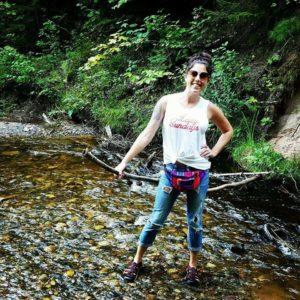 Nicole Carr river hiking