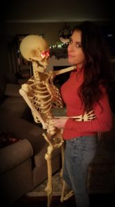 Nicole Carr with Skeleton