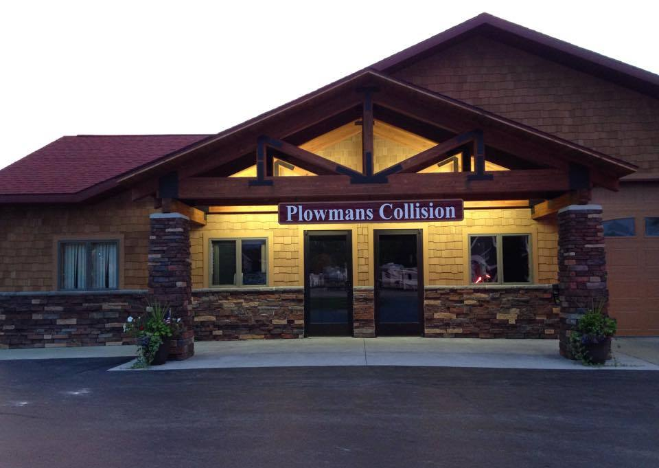 Exterior of Plowman's Collision building.