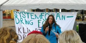 Helena speaks at Fridays For Future climate strike