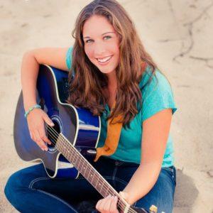 Helena playing guitar