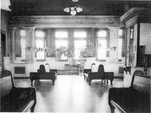 Interior of Alpena Depot.
