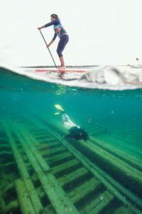 Shipwreck paddling/snorkeling by Joe Gall Photography