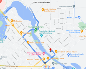 4th of July parade route map