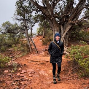 Mary Beth Stutzman hiking